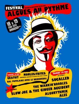 Algues au Rythme - Festival Art de la rue et musique - affiche 2012