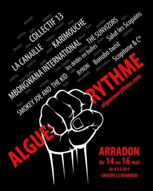 Algues au Rythme - Festival Art de la rue et musique - affiche 2015
