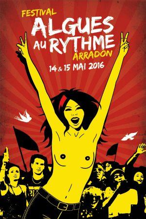 Algues au Rythme - Festival Art de la rue et musique - affiche 2016