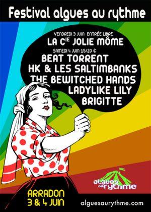 Algues au Rythme - Festival Art de la rue et musique - affiche 2011